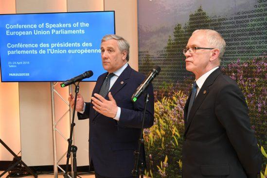 Antonio Tajani ja Eiki Nestor