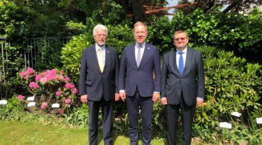 Marko Mihkelson väliskomisjoni esimeestega Leedust ja Lätist