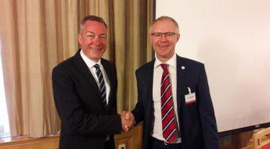 Hannes Hanso ja Norra kaitseminister Frank Bakke Jensen