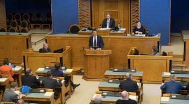 Eesti Panga president Ardo Hansson Riigikogus