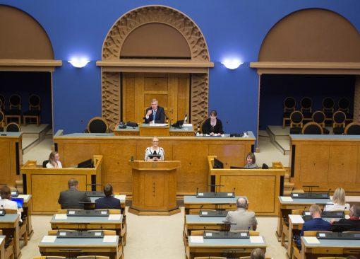Riigikogu arutab sündimuse tõstimist. Foto: Marie Kukk