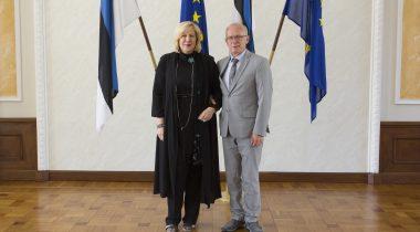 Riigikogu esimees Eiki Nestor ja Euroopa Nõukogu inimõiguste volinik Dunja Mijatović