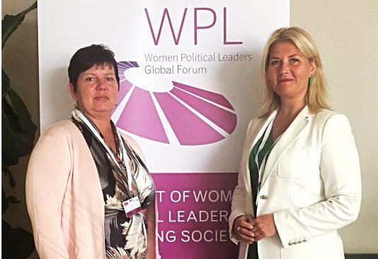 Terje Trei ja Liisa Oviir Women Political Leaders tippkohtumisel Vilniuses