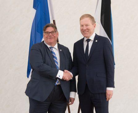 Marko Mihkelsoni ja Timo Soini kohtumine