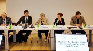 Balti Assamblee haridus-, teadus- ja kultuurikomisjoni istung. Foto: Riigikogu Kantselei