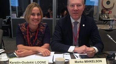NATO PA Eesti delegatsiooni juht Marko Mihkelson ja liige Oudekki Loone