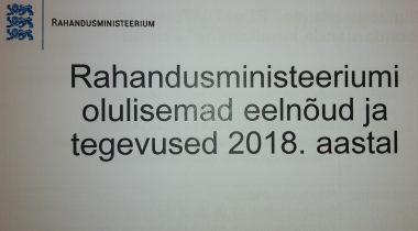 Rahandusministeeriumi eelnõud 2018 sügisel