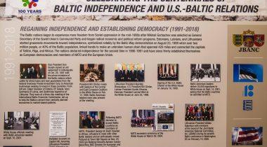 """Näitus """"Tähistades Balti riikide iseseisvuse sajandat juubelit ja USA – Balti suhteid"""""""