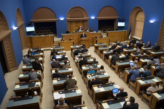 Peaminister Jüri Ratas esines Riigikogu ees poliitilise avaldusega