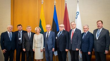 Nestor at the Baltic Assembly: cooperation with countries sharing our values ensures our survival. Photo: Dž. G. Barysaitė