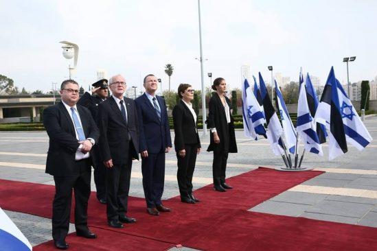 Riigikogu esimees Eiki Nestor ja Knesseti esimees Yuli-Yoel Edelstein Foto: Miri Shimonovich, Iisraeli välisministeerium