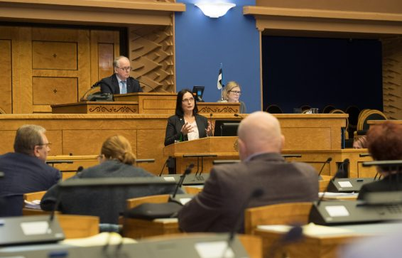 SA Viljandi Haigla juhatuse liige, psühhiaater Katrin Kaarma. Foto: Erik Peinar / Riigikogu Kantselei