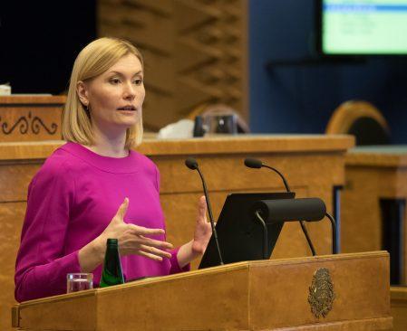 Tervise- ja tööminister Riina Sikkut. Foto: Erik Peinar / Riigikogu Kantselei