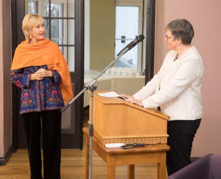 Marianne Mikko ja Liliane Maury Pasquier. Foto: Erik Peinar / Riigikogu Kantselei
