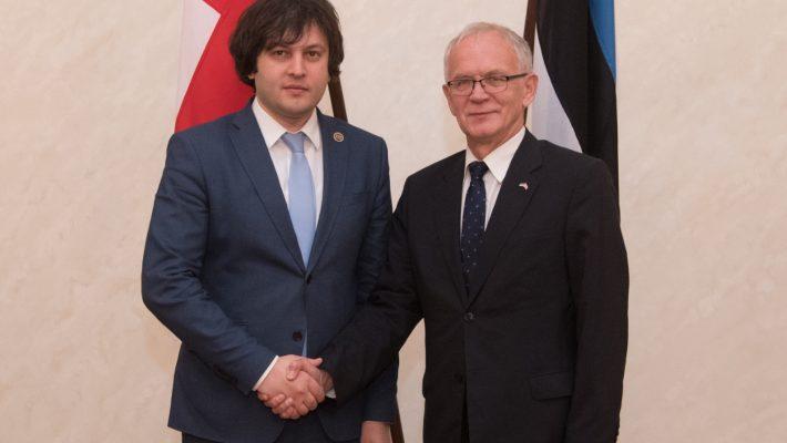 Riigikogu esimehe Eiki Nestori ja Gruusia parlamendi esimehe Irakli Kobakhidze kohtumine
