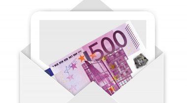 Raha ümbrikus. Allikas: pixabay.com