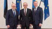 XIII Riigikogu juhatus: Enn Eesmaa, Eiki Nestor, Kalle Laanet