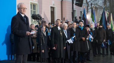 Speech by the President of the Riigikogu Eiki Nestor at the flag hoisting ceremony in the Governor's Garden on 24 February 2019