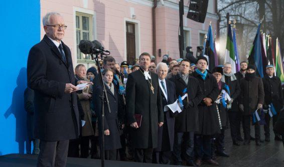 Riigikogu esimehe Eiki Nestori kõne riigilipu pidulikul heiskamisel Kuberneri aias 24. veebruaril 2019