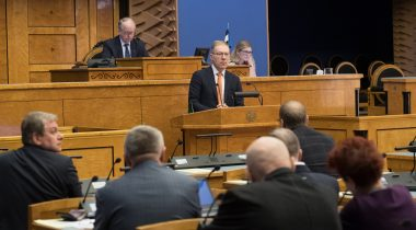 Discussion in the Riigikogu focused on the Estonian foreign policy