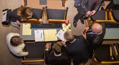 Parlamendirühmade moodustamine. Foto: Erik Peinar