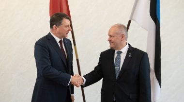 President of the Riigikogu (Parliament of Estonia) Henn Põlluaas and President of the Republic of Latvia Raimonds Vējonis