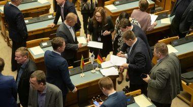 Riigikogus moodustati 14 parlamendirühma ja 5 toetusrühma. Foto: Erik Peinar