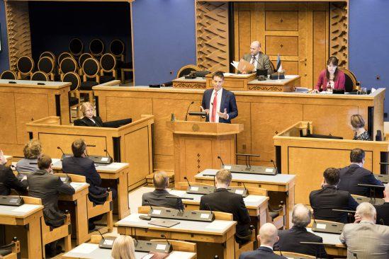 Ardo Hansson esitab Riigikogule Eesti Panga 2018. aasta aruannet