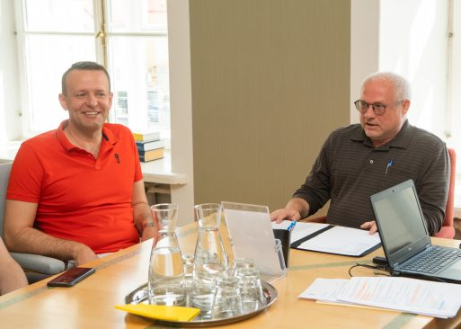 Põhiseaduskomisjoni aseesimees Lauri Läänemets ja esimees Paul Puustusmaa