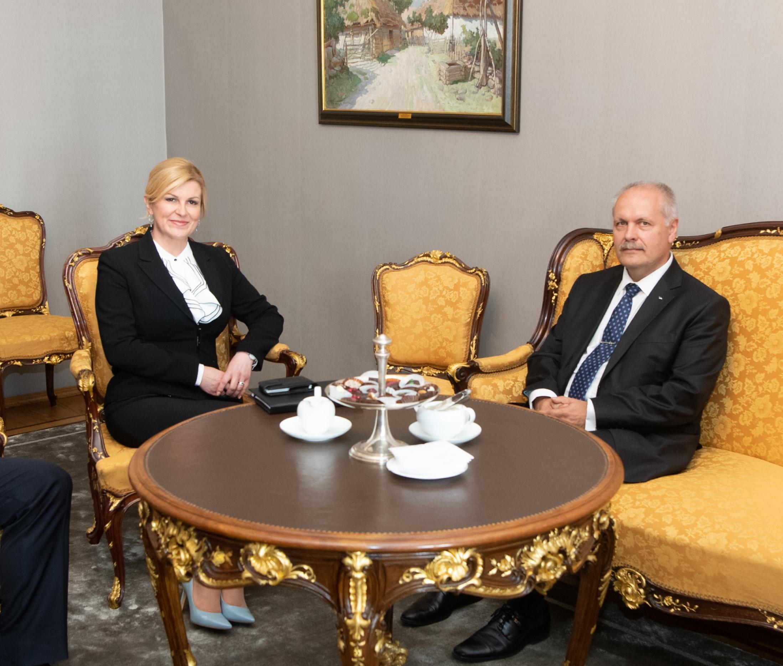 Riigikogu esimees ja Horvaatia president pidasid tähtsaks ühiseid väärtusi