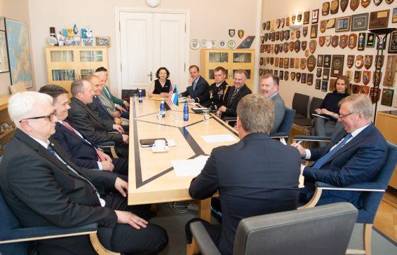 Kohtumine NATO staabielemendi juhtkonnaga
