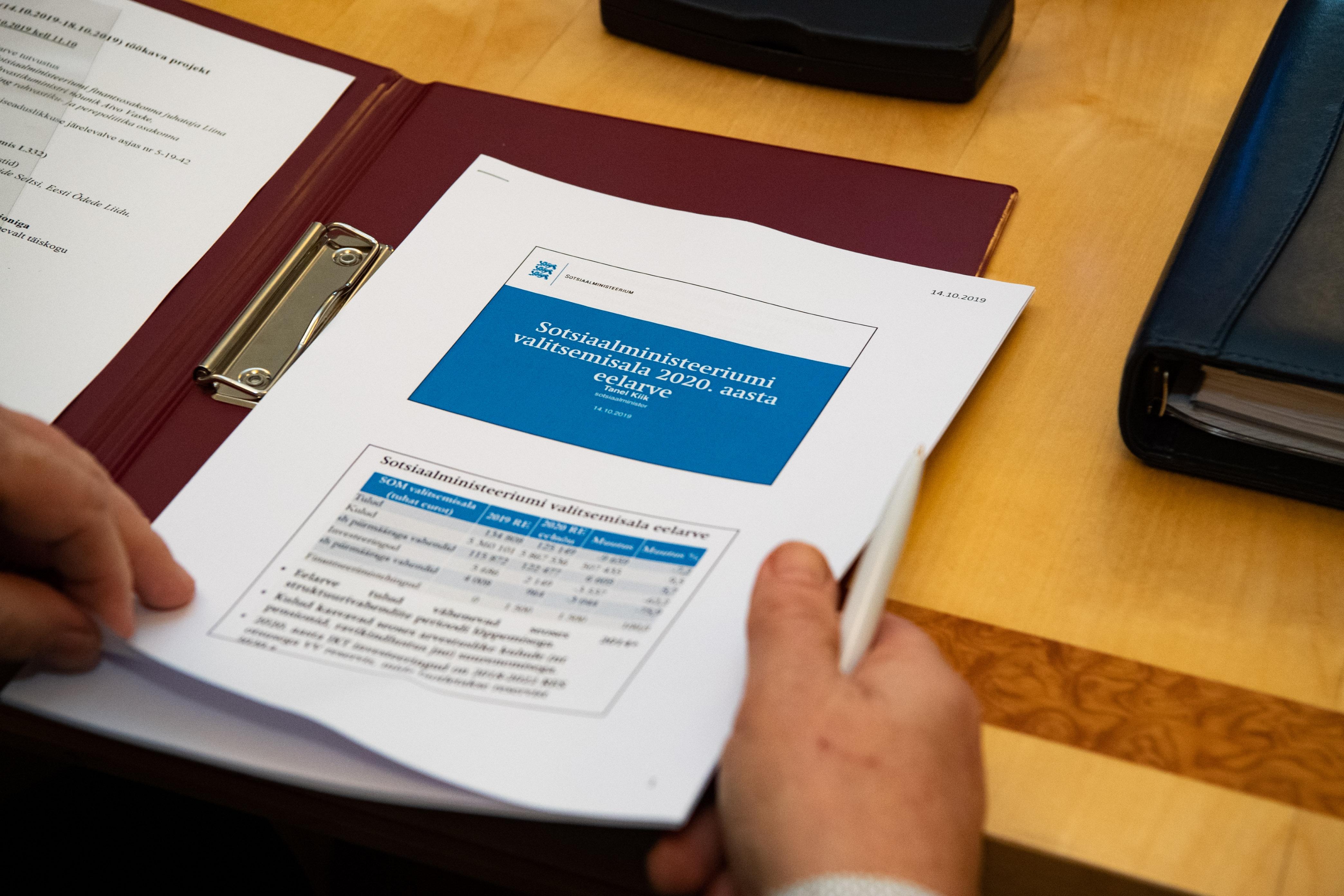 Sotsiaalkomisjon sai ülevaate järgmise aasta riigieelarve sotsiaalvaldkonna kuludest