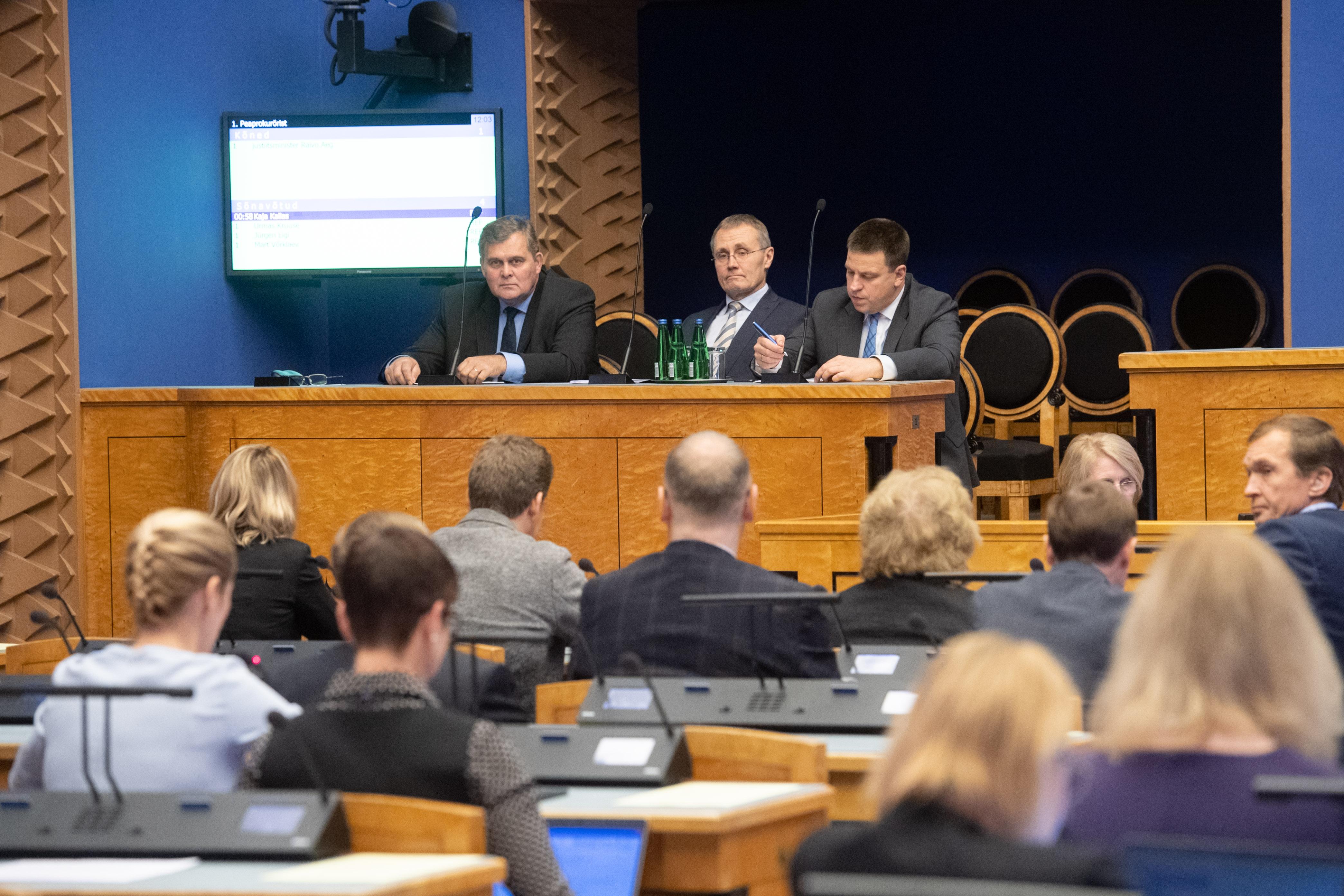Riigikogu infotund keskendus riigi peaprokuröri ametisse nimetamisele