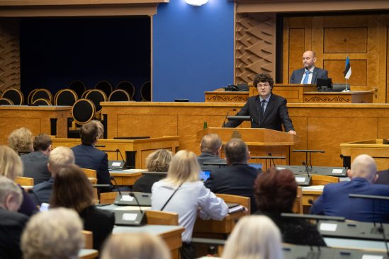 The Riigikogu appointed Kalev Saare as a justice of the Supreme Court. Photo: Erik Peinar