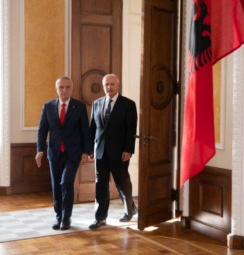 Riigikogu esimees Henn Põlluaas kohtus Albaania presidendi Ilir Metaga