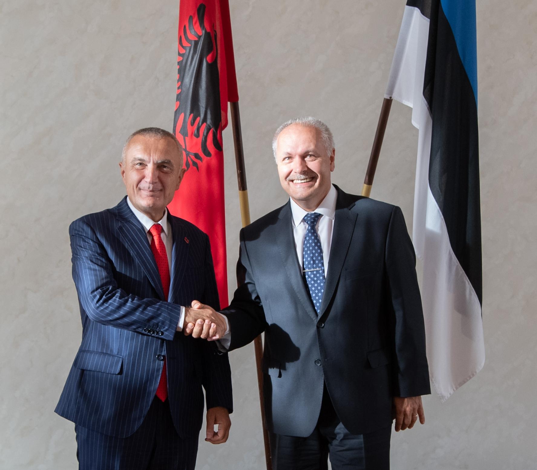 Põlluaas kinnitas kohtumisel Albaania presidendile Eesti toetust riigi EL väljavaadetele