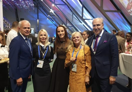 Eesti IPU delegatsioon koosseisus Aivar Kokk, Helle-Moonika Helme, Toomas Kivimägi, ja Marika Tuus-Laul koos IPU presidendi Gabriela Cuevas Barroniga