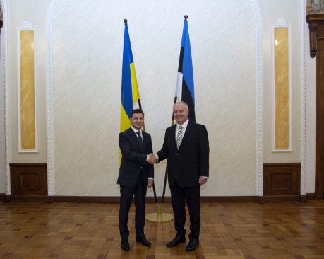 Ukraina president Volodõmõr Zelenskõi ja Riigikogu esimees Henn Põlluaas