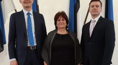 Indrek Neivelt (vasakult), Kersti Sarapuu ja Dmitri Jegorov.