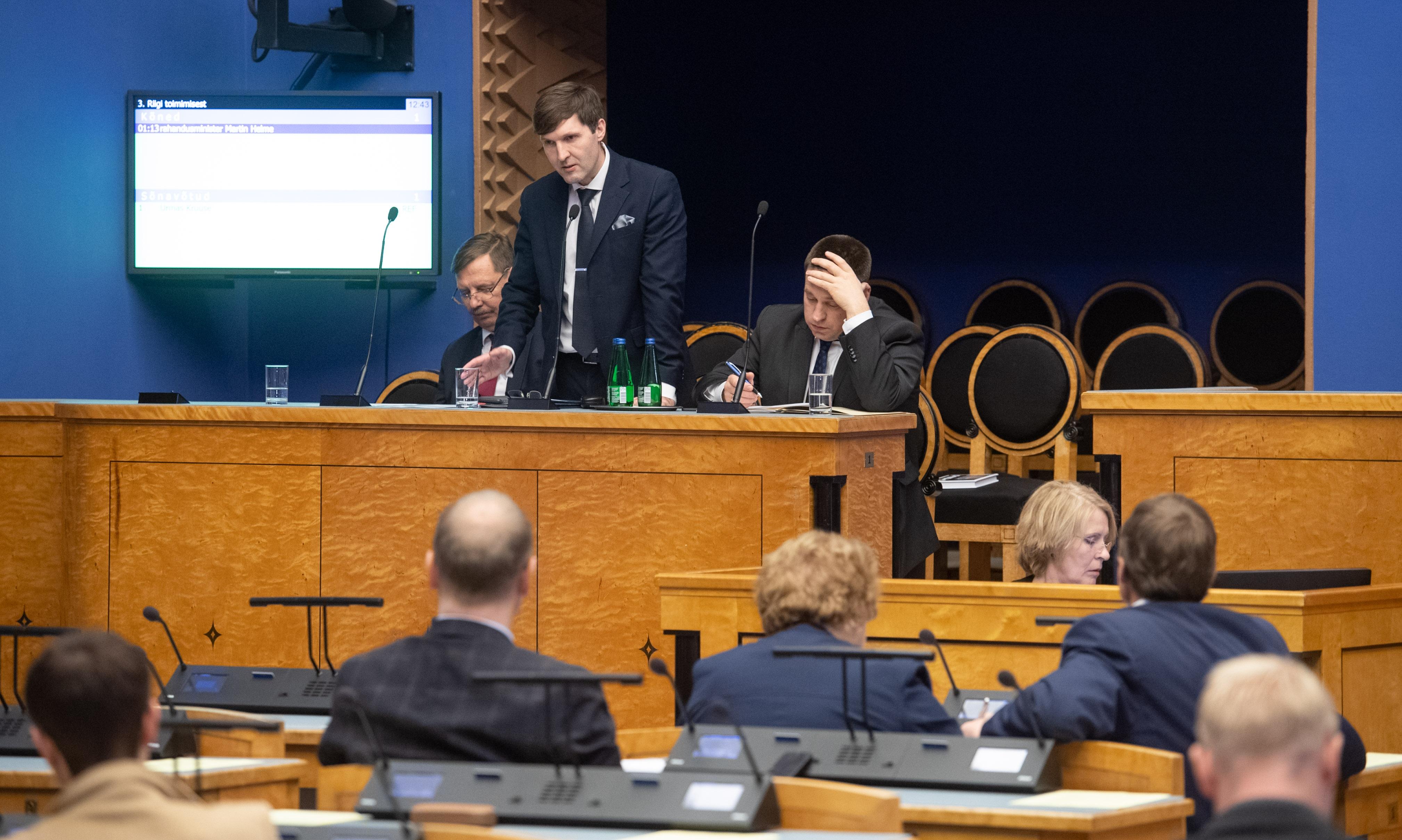 Riigikogu infotunnis räägiti pensionireformiga kaasnevatest riskidest
