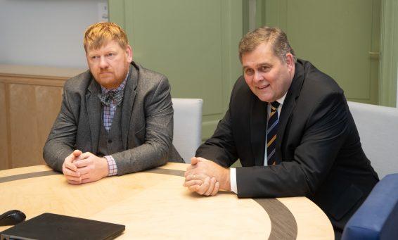 Riigi peaprokuröri kandidaat Andres Parmas ja justiitsminister Raivo Aeg