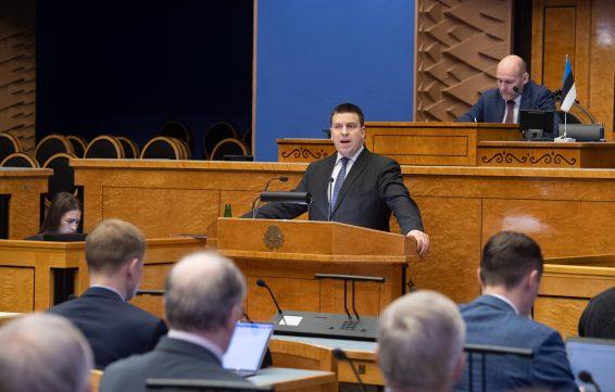 Peaminister Jüri Ratas annab Riigikogule ülevaate valitsuse Euroopa Liidu poliitikast