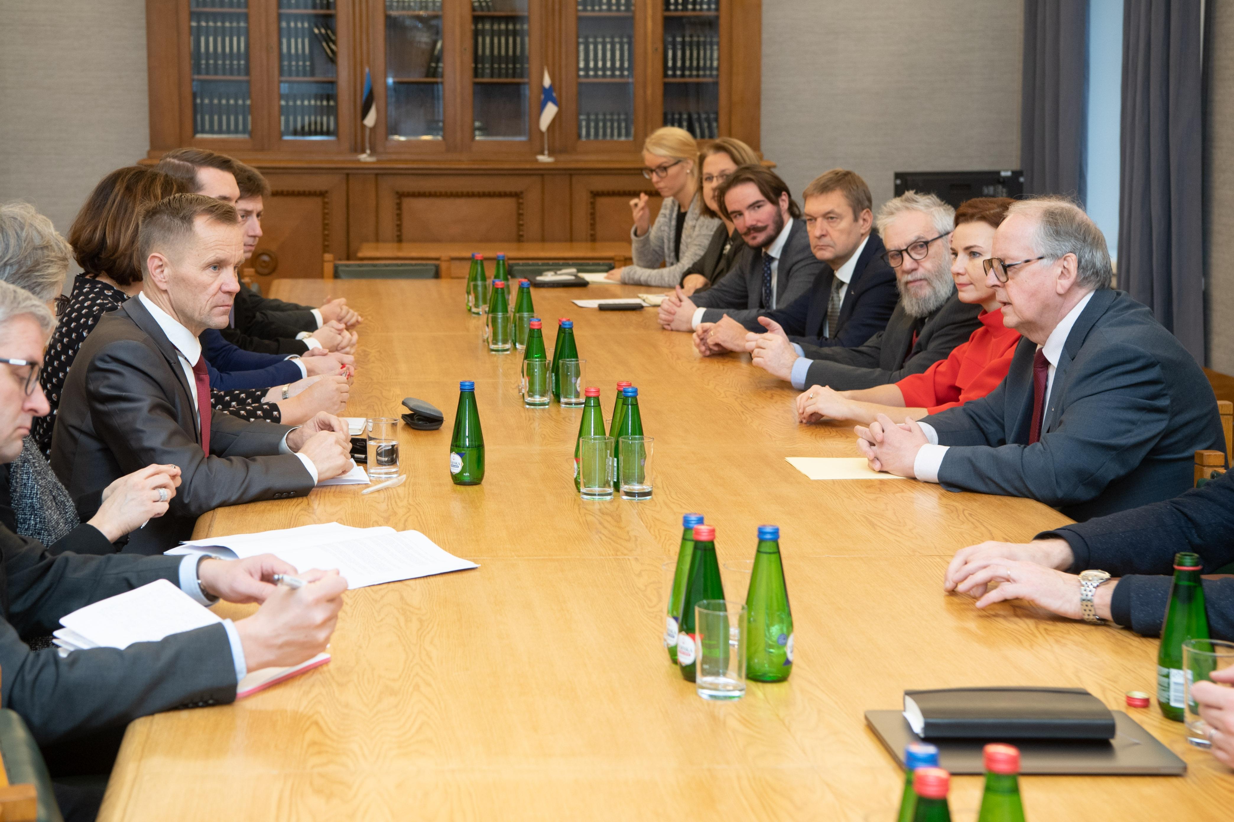 Väliskomisjoni kohtumine Soome kolleegidega keskendus rahvusvahelisele poliitilisele olukorrale