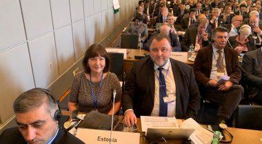 OSCE Parlamentaarse Assamblee Eesti delegatsiooni esimees Sven Sester ja delegatsiooni liige Heljo Pikhof