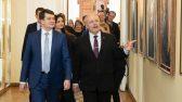Riigikogu esimees Henn Põlluaas kohtus Ukraina parlamendi esimehe Dmõtro Razumkoviga