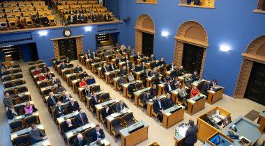 Первое чтение в Рийгикогу прошел проект закона о контроле безопасности в отношении депутатов. Foto: Erik Peinar