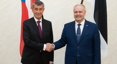 President of the Riigikogu (Parliament of Estonia) Henn Põlluaas and Prime Minister of the Czech Republic Andrej Babiš
