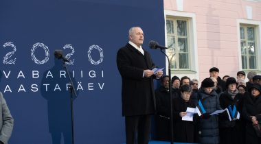 Speech by President of the Riigikogu Henn Põlluaas at the Independence Day flag raising ceremony