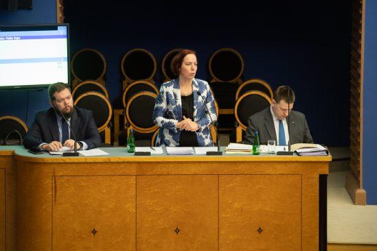 Riigikogu infotund. Kaimar Karu, Mailis Reps ja Jüri Ratas