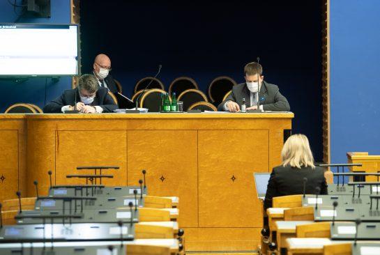 Riigikogu infotund. Foto: Erik Peinar